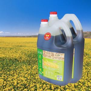 汉桂浓香小榨菜籽油5L,非转基因,浓郁香醇