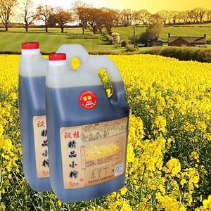 汉桂精品小榨菜籽油5L,非转基因,物理压榨